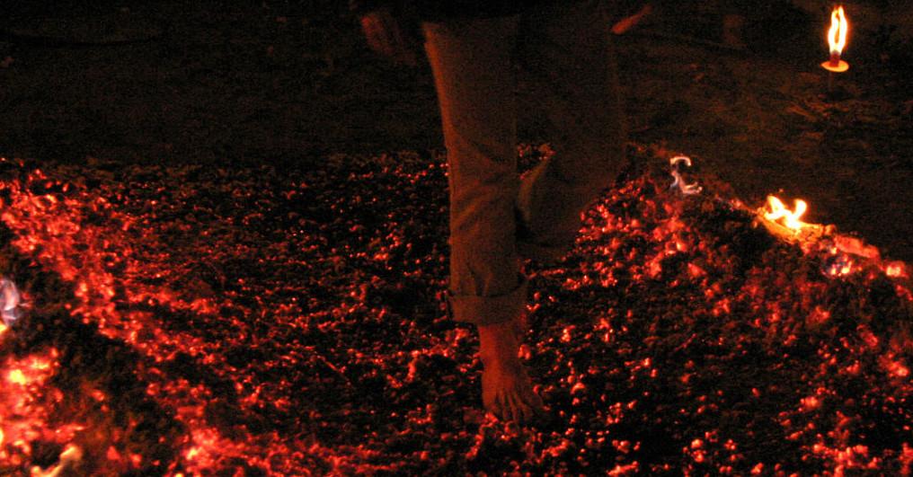 Feuerlauf, Klaus Reiner, Ritual